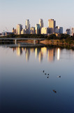 minneapolis skyline and geese poster