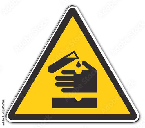 poster of warning acid