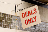 deals only poster