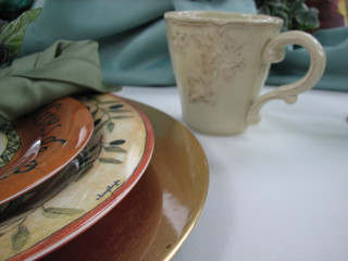 cup and plates