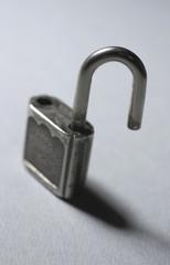 the open padlock