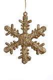 sparkling golden snowflake poster