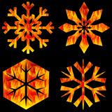 flaming snowflakes poster