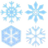 frosted snowflakes poster