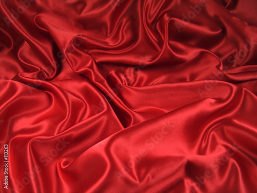 Leinwandbild Motiv red satin fabric [landscape]