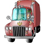 female trucker poster