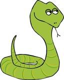 coiled green snake poster