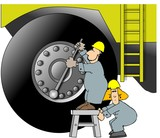 heavy equipment repair poster