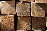 lumber pile close up poster