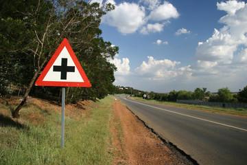 crossing ahead