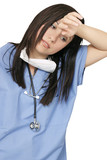 weary healthcare professional poster