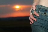 sunset jeans poster