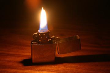 lit lighter