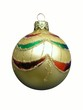 christmas gold ball. isolated.