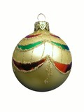 christmas gold ball. isolated. poster