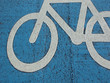 painted sign of bicycle painted on the road