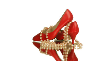stilettos with pearls