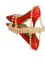 heel with pearls