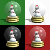 snowman snow globes poster