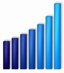 graphique bleu