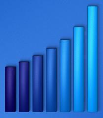 graphique bleu sur bleu