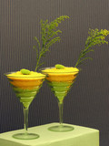 lime green and yellow quirky coctails poster