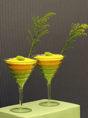 lime green and yellow quirky coctails