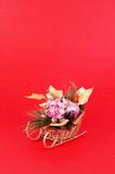 christmas flower arrangement poster