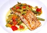 gourmet salmon meal