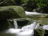 smoky mountain national park stream poster