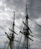sailing ship masts poster