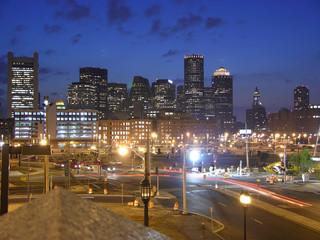 boston, ma twilight shot