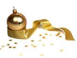 gold christmas ball poster