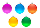 set of christmas decoration poster