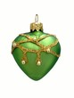 christmas decoration.green heart