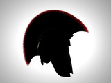 greek helmet silhouette poster