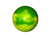 yellow green planet poster