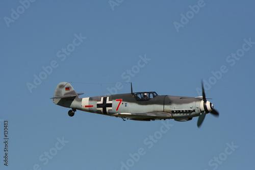 Photo sur Plexiglas Avion à Moteur messerchmitt bf 109 en vol