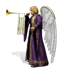 angel gabriel - side view