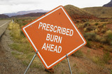 prescribed burn sign poster