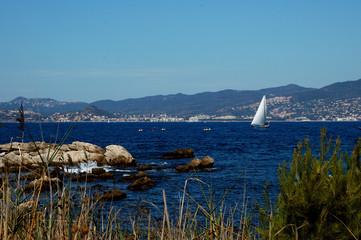 paysage de la côte d'azur
