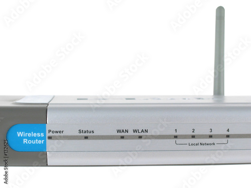 wireless router close up isolated