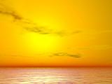 yellow sunrise poster