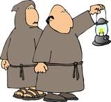 hooded monks poster