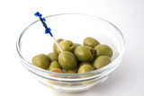 bowl of green olives poster