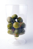 green olives in glass poster