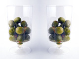 two glasses of green olives poster