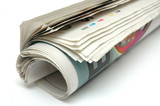 roll of newspaper poster