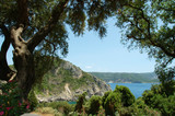 seaside of paleokastrica, corfu, greece poster