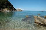 seaside of palekastrica, corfu, greece poster